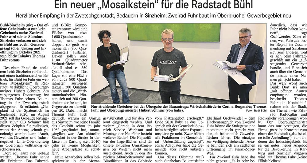 Neubau-Zweirad-Fuhr-Bericht-Badisches-Tagblatt