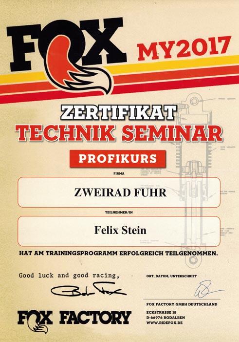 FOX-Zertifikat